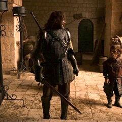 Tyrion dziękuję Sandorowi Clegane.