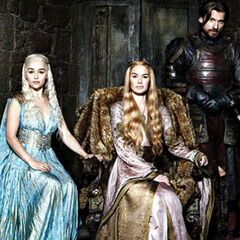 Magazine photo shoot of the <i>Game of Thrones</i> cast.