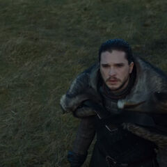 Jon sees the dragon.