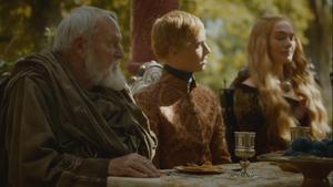 Pycelle at joffrey margaery wedding