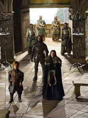 Tyrion, Cat and Vardis at the Eyrie