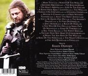 Game of Thrones Staffel 1 Soundtrack CD back