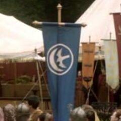 Estandarte da Casa Arryn no <a href=