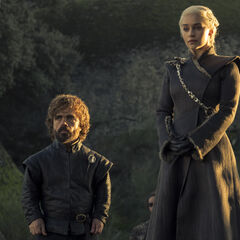 Tyrion and Daenerys stand before them.