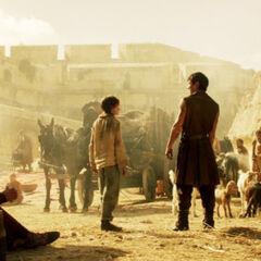 Gendry z Aryą Stark, <a href=