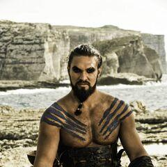 Khal Drogo podczasj swojego wesela.