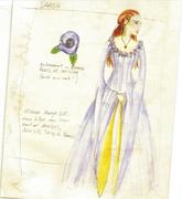 Sansa tournament costume Season 1 concept art
