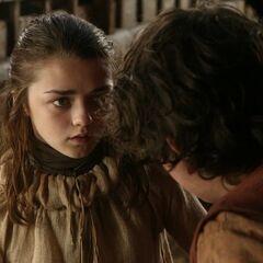 Arya tötet mit Nadel.