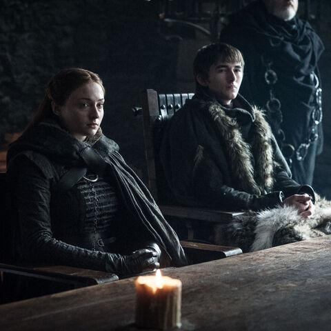 Sansa und Bran als Richter