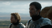 Ser Arthur Dayne (right) at the Tower of Joy