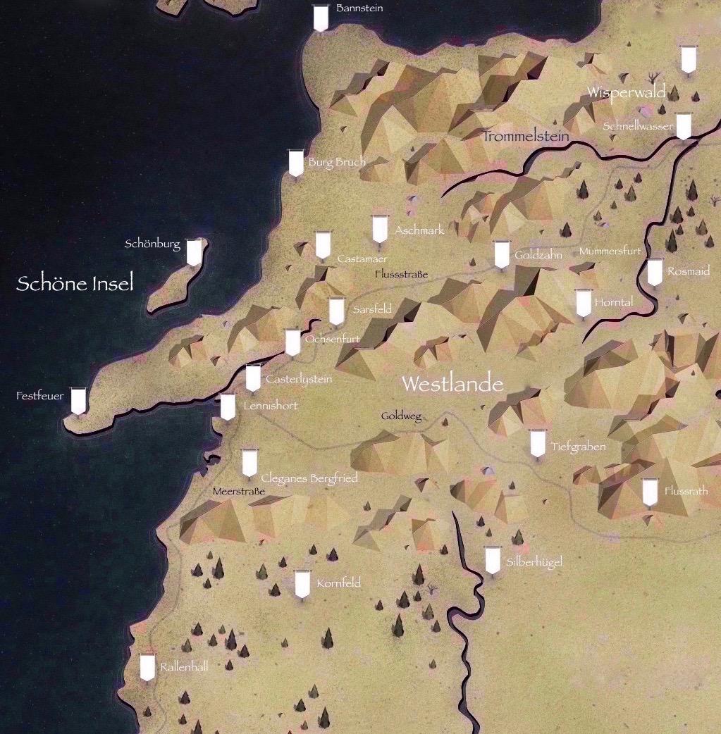 Got Karte Deutsch.Westlande Game Of Thrones Wiki Fandom Powered By Wikia