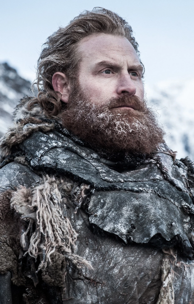 Redhead wildling from game of thrones