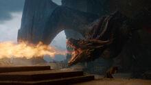 Дрогон плавит Железный трон 8x06