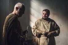 Сэм и Эброз в палате у Джораха 7x02