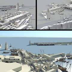 Die Erste Konzeptstudie für den Hafen von Meereen