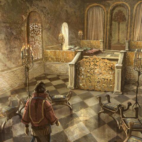 Daenerys' Unterkunft in Xaros Anwesen
