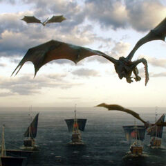 Smoki i flota zmierzająca do Westeros.
