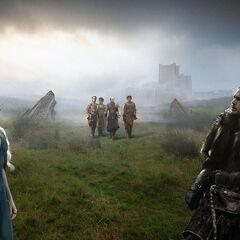 Jon, Daenerys und Jorah auf den Klippen von Drachenstein