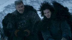 Halfhand and Jon Snow