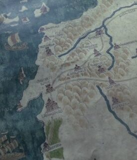 Westerlands on-screen map