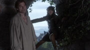 Jaime pushes Bran out the tower window