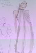 Daenerys costume Season 1 display dress concept art