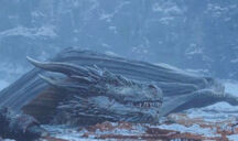 Viserion sinking into ice