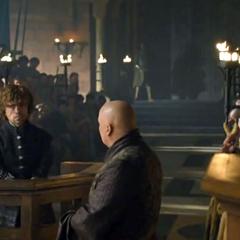 Tyrion i Varys na procesie krasnala.