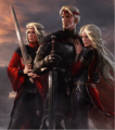 Aegon with sisters by Amok.png
