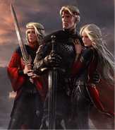 Aegon with sisters by Amok