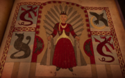 S5 Rhaenyra Iron Throne quartered heraldry