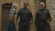 Daenerys orders barristan and jorah to not question her