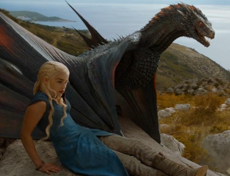 Season 4 Drogon and Dany