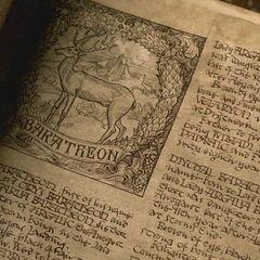 Casa Baratheon, primeira página visível.