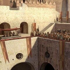 Zuschauerränge beim Turnier zu Ehren von Joffreys Namenstag <br /> von <i>Kimberley Pope</i>
