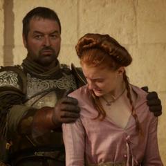 Ser Meryn Trant restrains Sansa in