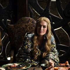 Cersei breakfasting in Winterfell in