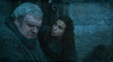 Osha trying to calm down hodor