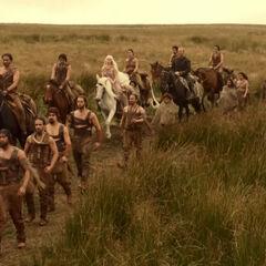 Ser Jorah z Dothrakami.