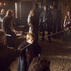 Tyrion pojmany przez rycerzy lojalnych Tullym.