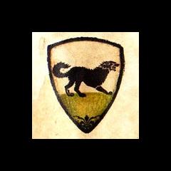 Pirmasid Starkų giminės herbo variantas, seriale nenaudotas.