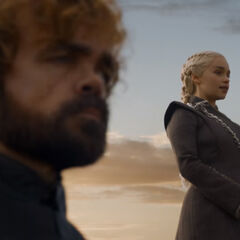 Daenerys judges the troops.