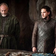 Jon and Davos at the Painted Table.