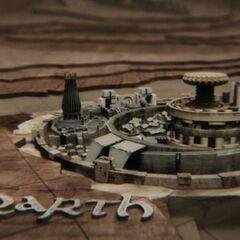 Qarth w czołówce serialu.