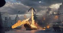Драконы уничтожают Миэрин 6x09