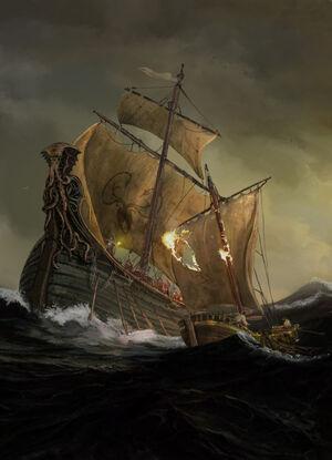 Seeschlacht Schiffe Eisenmänner Lincoln Renall