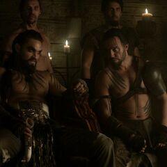 Дрого і його кровні вершники Ваес Дотрак.