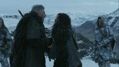 Jon kills Qhorin