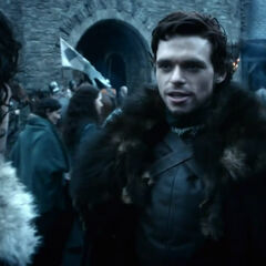 Robb says goodbye to Jon in