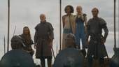 Barristan waiting with daenerys and co